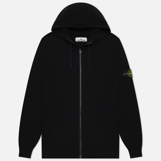 Мужской свитер Stone Island Hooded Cardigan Black