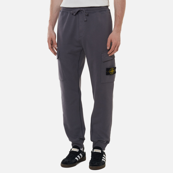Мужские брюки Stone Island Cargo Cotton Fleece Regular Fit Pewter Grey
