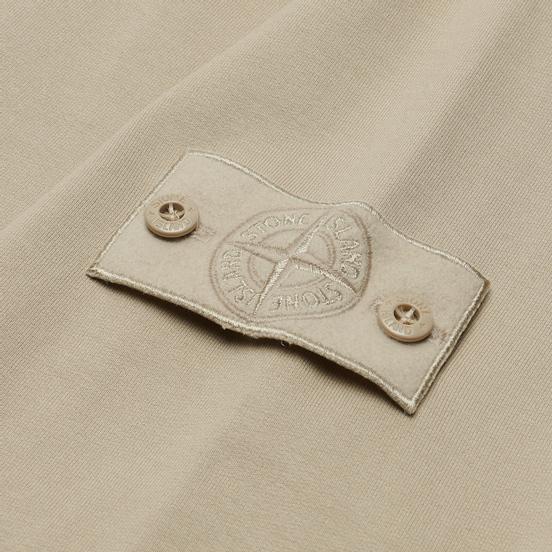 Мужская толстовка Stone Island Ghost Piece Hoodie Cotton Stretch Fleece Beige