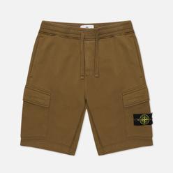 Мужские шорты Stone Island Cargo Bermuda Fleece Regular Fit Olive Green