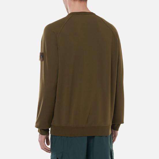 Мужская толстовка Stone Island Ghost Piece Crew Neck Stretch Fleece Military Green