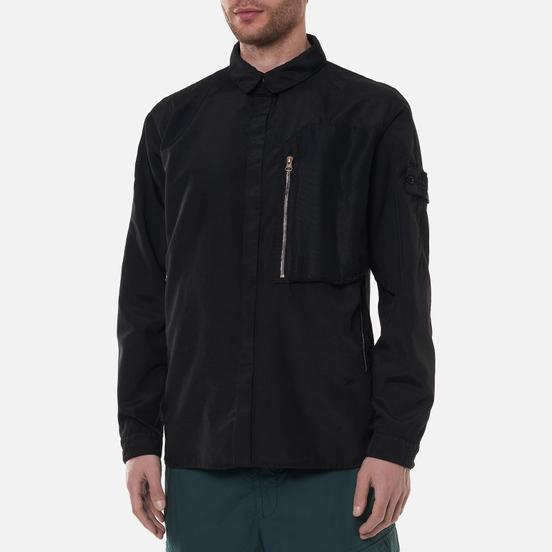 Мужская рубашка Stone Island Shadow Project Vented Overshirt Hollowcore Poly Light Black