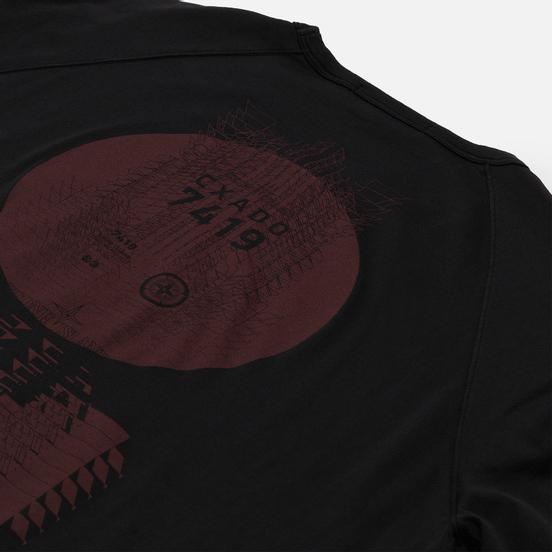 Мужской лонгслив Stone Island Shadow Project Printed Catch Pocket Mako Black