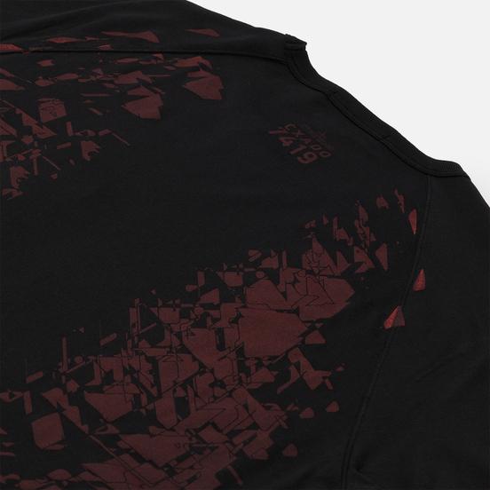 Мужская футболка Stone Island Shadow Project Printed Catch Pocket Mako Black