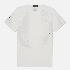 Мужская футболка Stone Island Shadow Project Printed Catch Pocket Mako Natural White