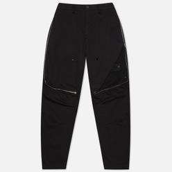 Мужские брюки Stone Island Shadow Project Vent Panel Black Weaved Cotton Satin Black