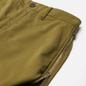 Мужские брюки Stone Island Shadow Project Vent Panel Black Weaved Cotton Satin Olive Green фото - 1
