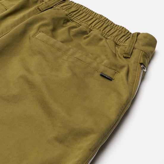 Мужские брюки Stone Island Shadow Project Vent Panel Black Weaved Cotton Satin Olive Green