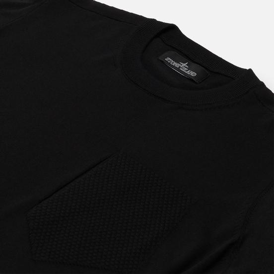 Мужской свитер Stone Island Shadow Project Fine Knit Cotton/Silk Black