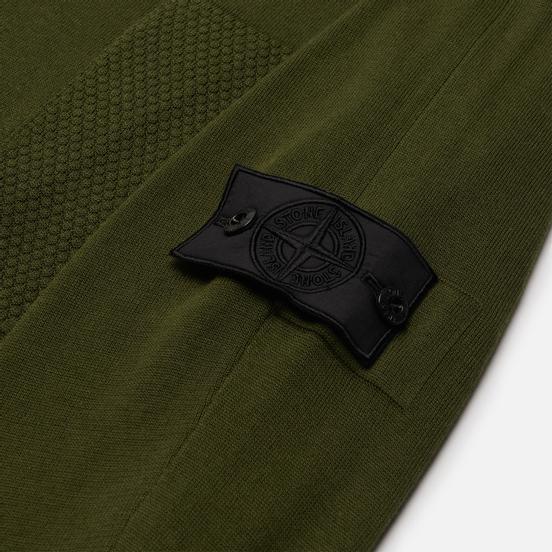 Мужской свитер Stone Island Shadow Project Fine Knit Cotton/Silk Olive Green