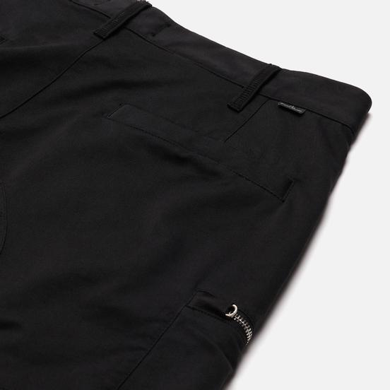 Мужские шорты Stone Island Shadow Project Cargo Black Weaved Cotton Satin Black