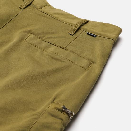 Мужские шорты Stone Island Shadow Project Cargo Black Weaved Cotton Satin Olive Green