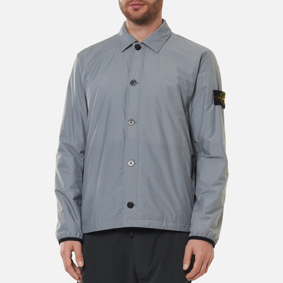 Мужская куртка Stone Island O-Cotton/R-Nylon Tela Primaloft Insulation Technology Overshirt Pearl Grey