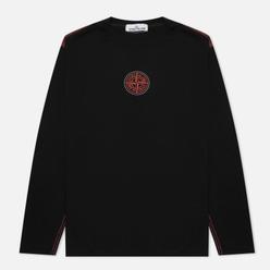 Мужской лонгслив Stone Island Garment Dyed Embroidery Logo Black
