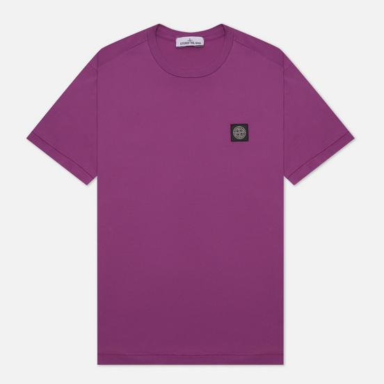 Мужская футболка Stone Island Small Logo Patch Magenta