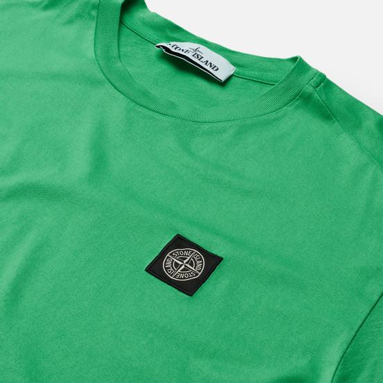 Мужская футболка Stone Island Small Logo Patch Green