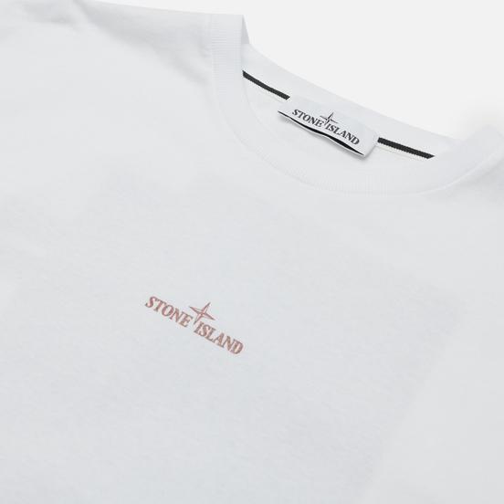 Мужская футболка Stone Island Mixed Media Two Print Slim Fit White