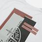 Мужская футболка Stone Island Mixed Media Two Print Slim Fit White фото - 2