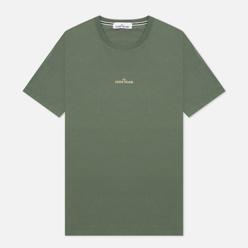 Мужская футболка Stone Island Mixed Media Two Print Slim Fit Sage Green