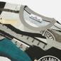 Мужская футболка Stone Island Mixed Media All Over Print Slim Fit Cobalt Blue фото - 1