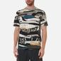 Мужская футболка Stone Island Mixed Media All Over Print Slim Fit Cobalt Blue фото - 2