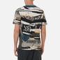 Мужская футболка Stone Island Mixed Media All Over Print Slim Fit Cobalt Blue фото - 3