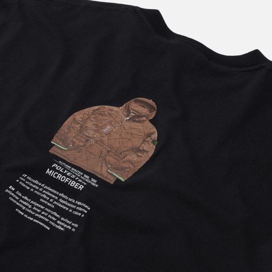 Мужская футболка Stone Island Archivio Project Polyester Microfibre Black