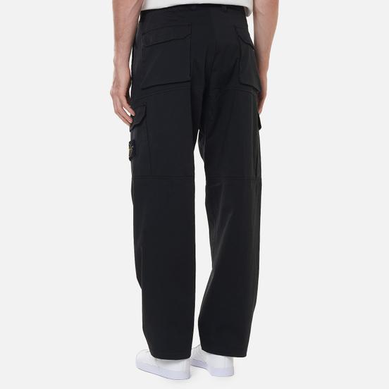 Мужские брюки Stone Island Stretch Cotton Wool Satin Loose Fit Black