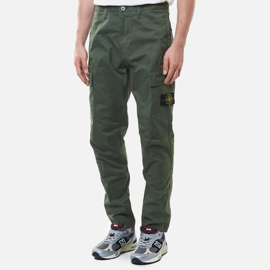 Мужские брюки Stone Island Stretch Cotton Gabardine Regular Tapered Fit Sage Green