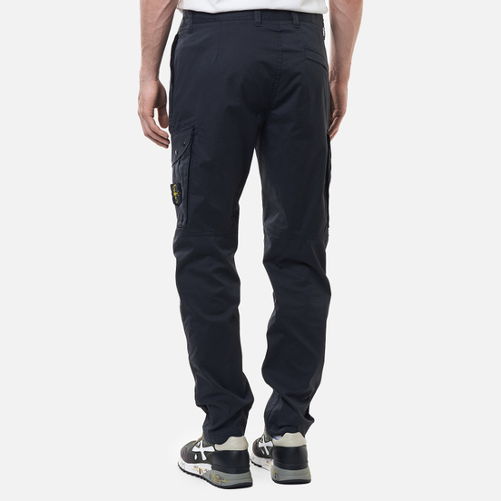 Мужские брюки Stone Island Stretch Cotton Gabardine Regular Tapered Fit Antracite