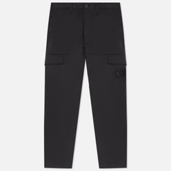 Мужские брюки Stone Island Ghost Piece Stretch Cotton Wool Satin Regular Tapered Fit Black