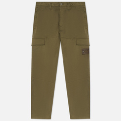 Мужские брюки Stone Island Ghost Piece Stretch Cotton Wool Satin Regular Tapered Fit Military Green