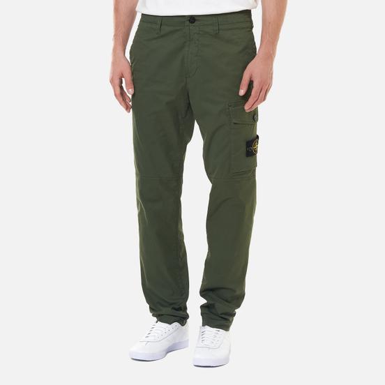 Мужские брюки Stone Island Stretch Cotton Gabardine Slim Fit Sage Green