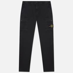Мужские брюки Stone Island Stretch Broken Twill Cotton Old Effect Slim Fit Black