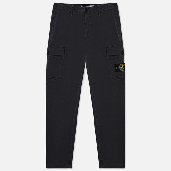 Мужские брюки Stone Island Stretch Broken Twill Cotton Old Effect Slim Fit Antracite