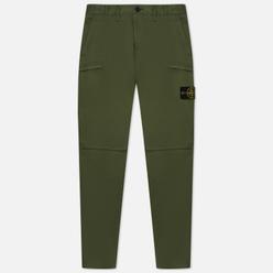 Мужские брюки Stone Island Stretch Cotton Gabardine Cargo Slim Fit Sage Green