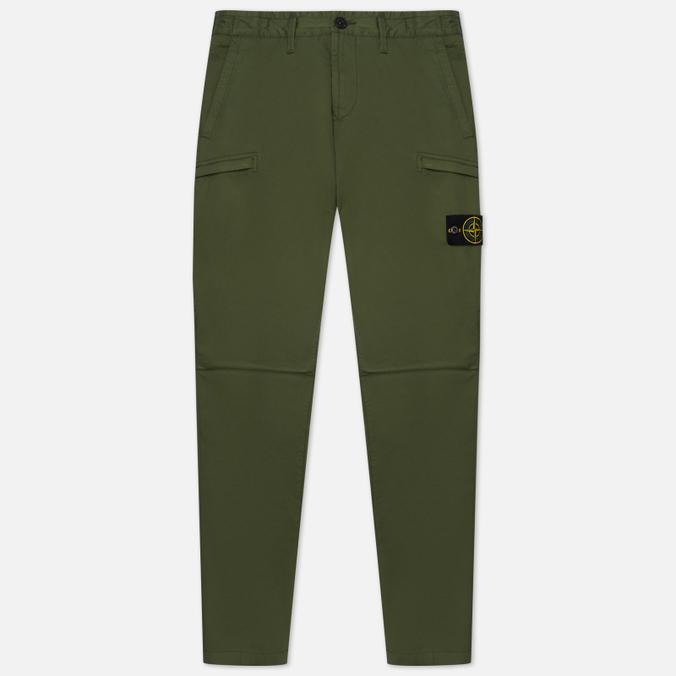 Мужские брюки Stone Island Stretch Cotton Gabardine Cargo Slim Fit