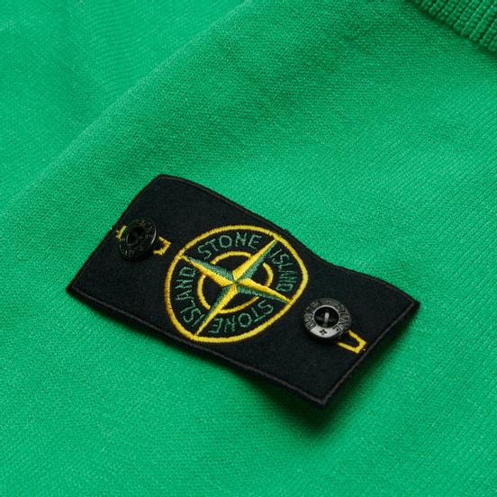 Мужской свитер Stone Island Classic Ribbed Neck Wool Green
