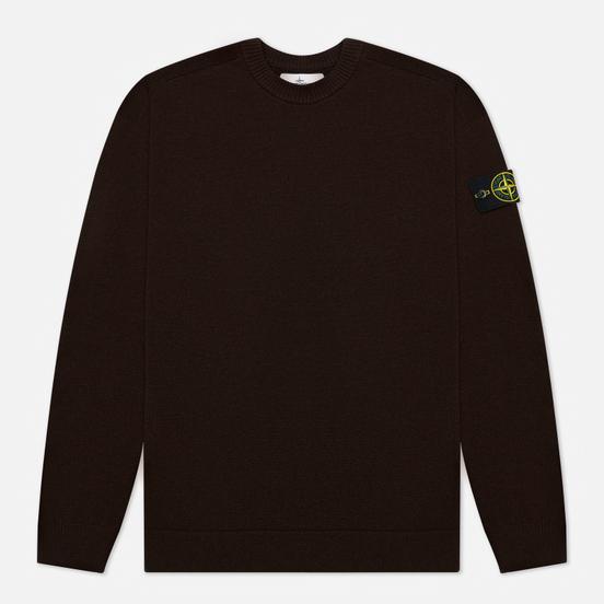 Мужской свитер Stone Island Classic Ribbed Neck Wool Dark Brown