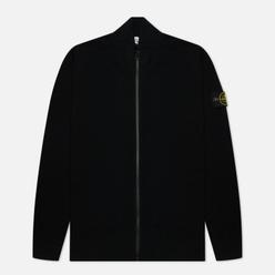 Мужской свитер Stone Island Stretch Wool Cardigan Black