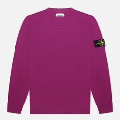 Мужской свитер Stone Island Classic Crew Neck Wool Magenta