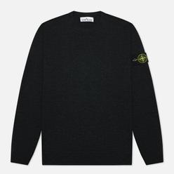 Мужской свитер Stone Island Classic Crew Neck Wool Antracite