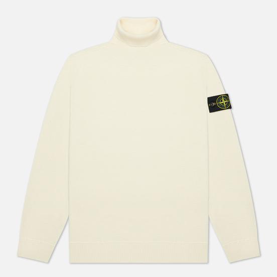 Мужской свитер Stone Island Light Pure Wool Natural White