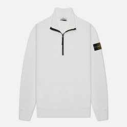 Мужская толстовка Stone Island Brushed Cotton Fleece Half-Zipper White