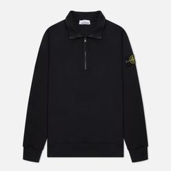 Мужская толстовка Stone Island Brushed Cotton Fleece Half-Zipper Black