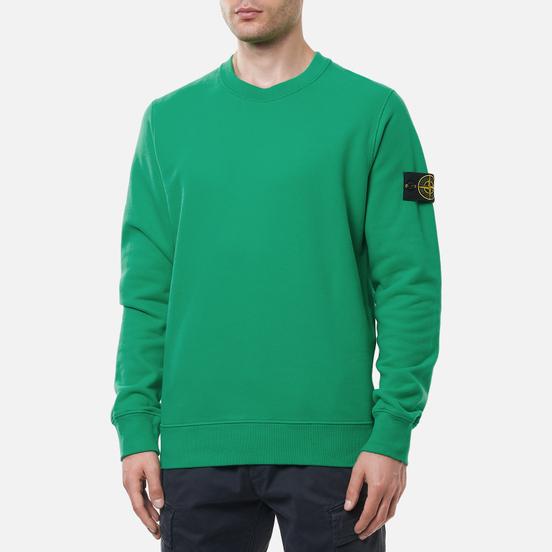 Мужская толстовка Stone Island Crew Neck Cotton Fleece Green