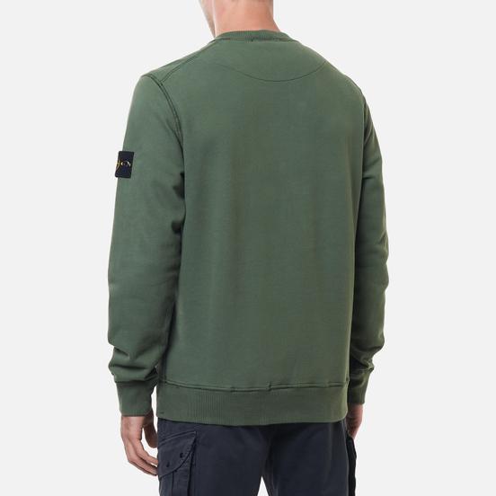 Мужская толстовка Stone Island Crew Neck Cotton Fleece Sage Green