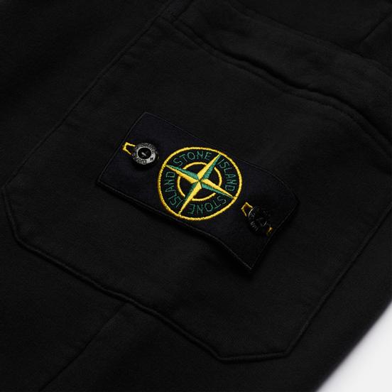Мужские брюки Stone Island Brushed Cotton Fleece Slim Fit Black