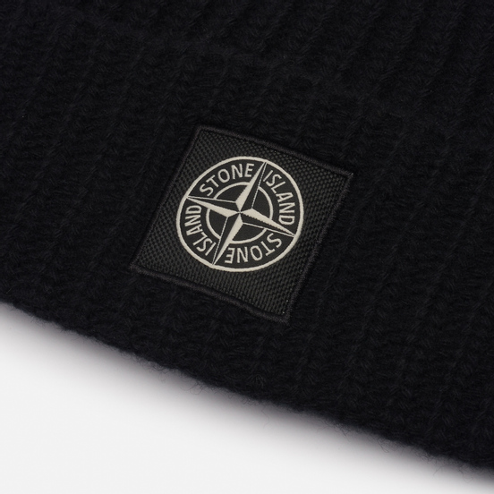 Шапка Stone Island Wool Patch Program Black