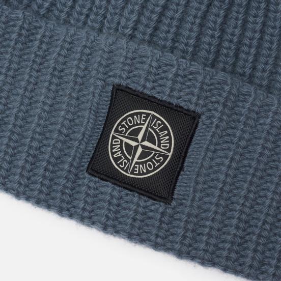 Шапка Stone Island Wool Patch Program Mid Blue